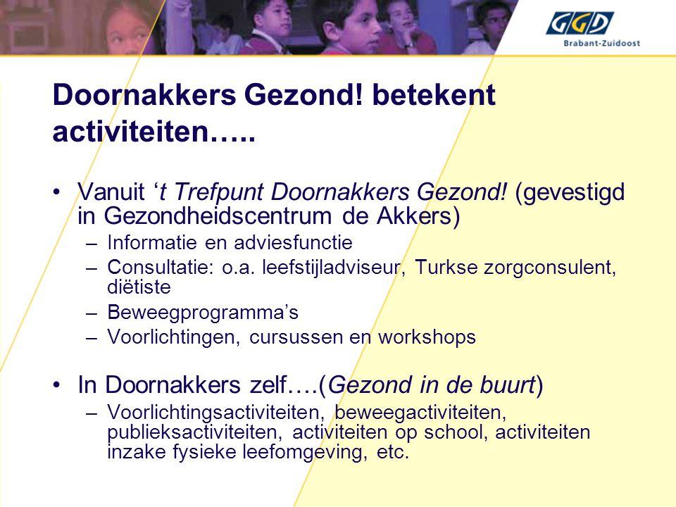 Doornakkers Gezond! betekent activiteiten…..