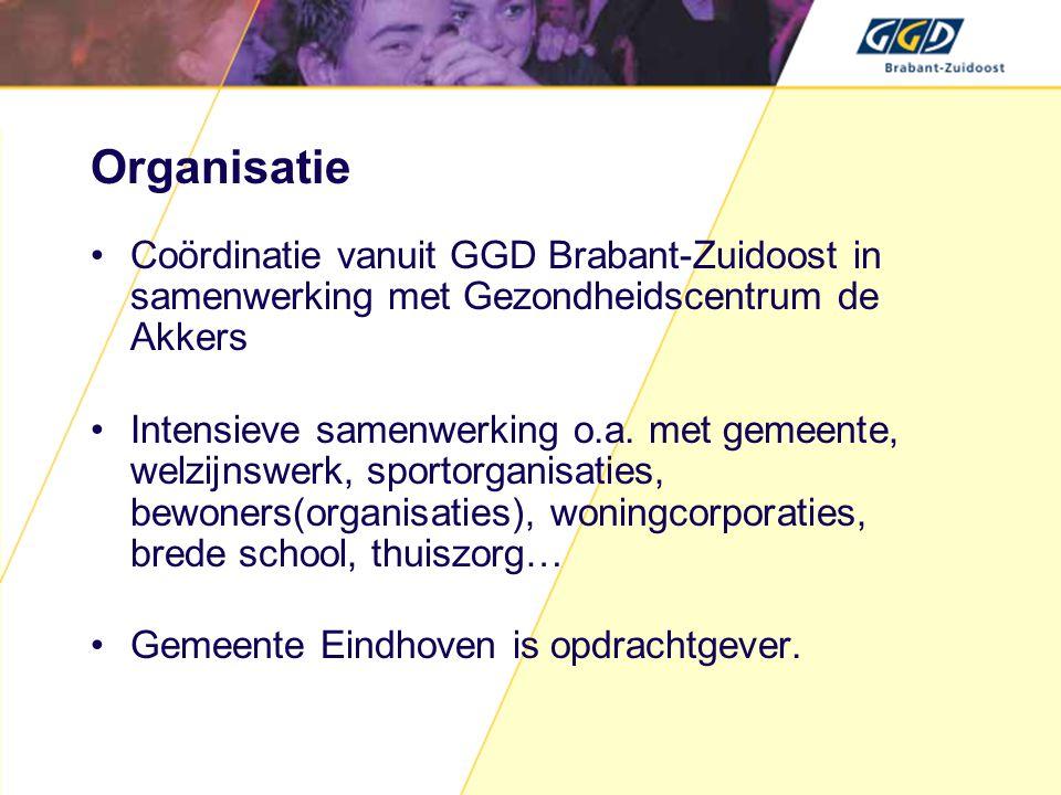Organisatie Coördinatie vanuit GGD Brabant-Zuidoost in samenwerking met Gezondheidscentrum de Akkers.