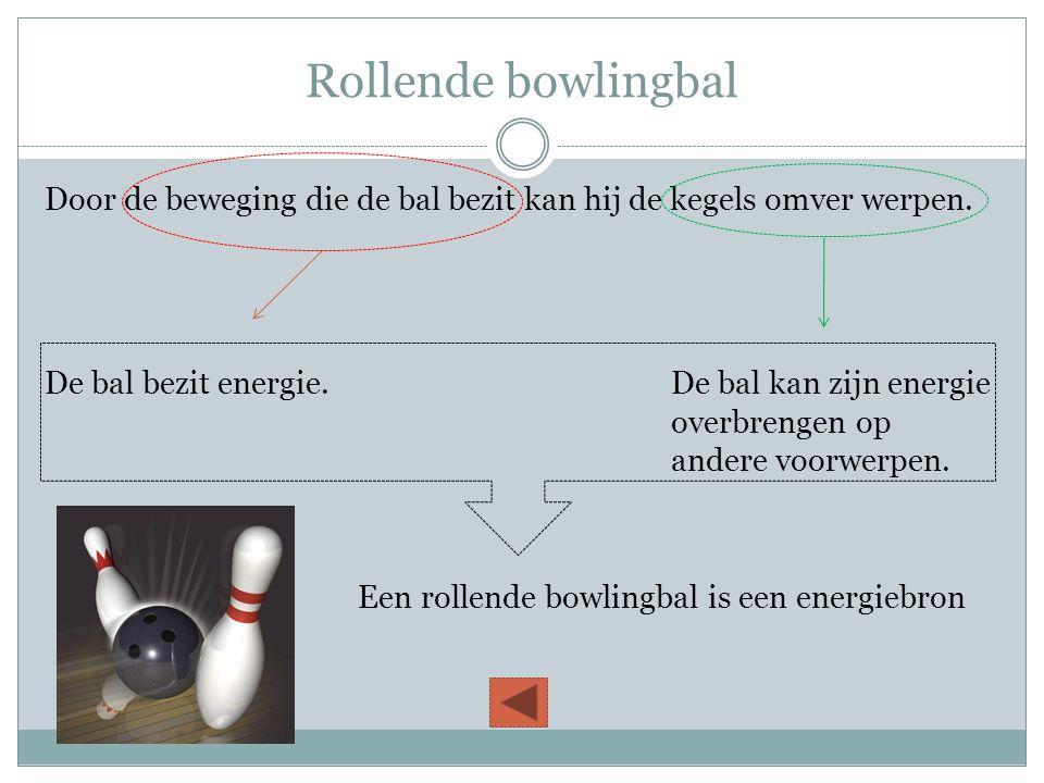 Rollende bowlingbal