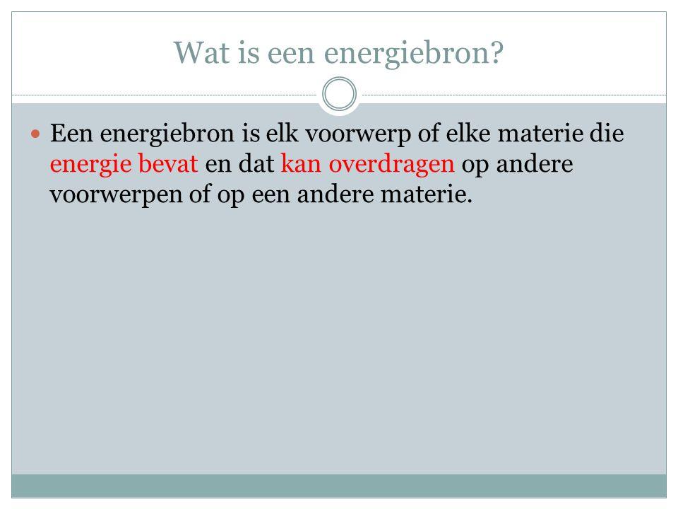 Wat is een energiebron