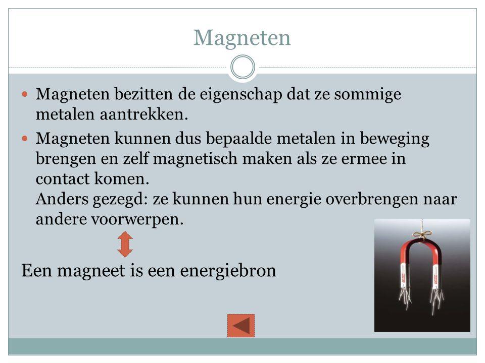Magneten Een magneet is een energiebron