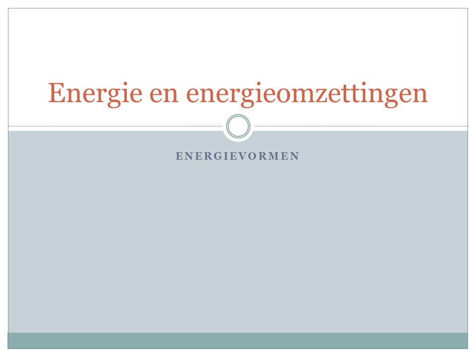 Energie en energieomzettingen