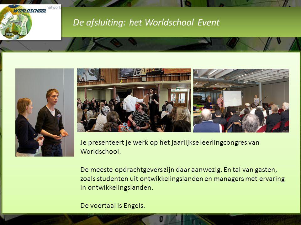 De afsluiting: het Worldschool Event
