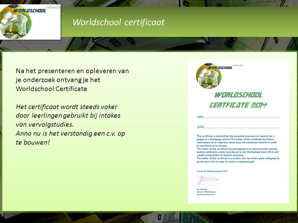 Worldschool certificaat