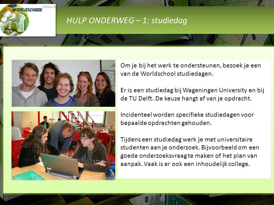HULP ONDERWEG – 1: studiedag