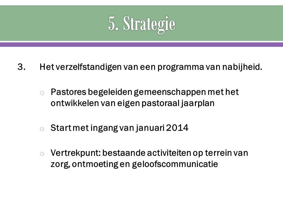 5. Strategie 3. Het verzelfstandigen van een programma van nabijheid.
