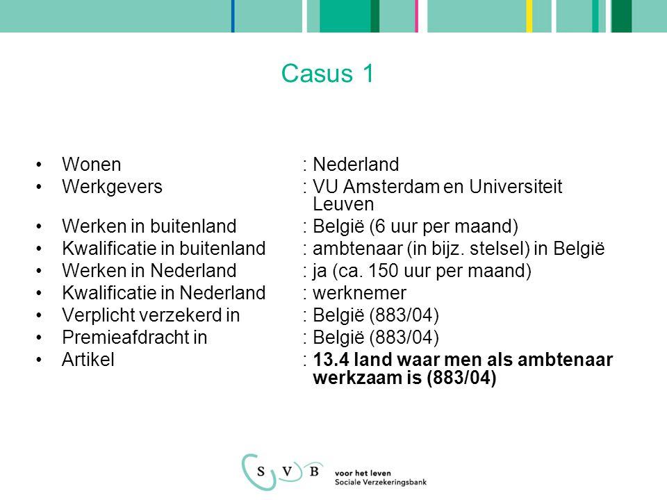 Casus 1 Wonen : Nederland
