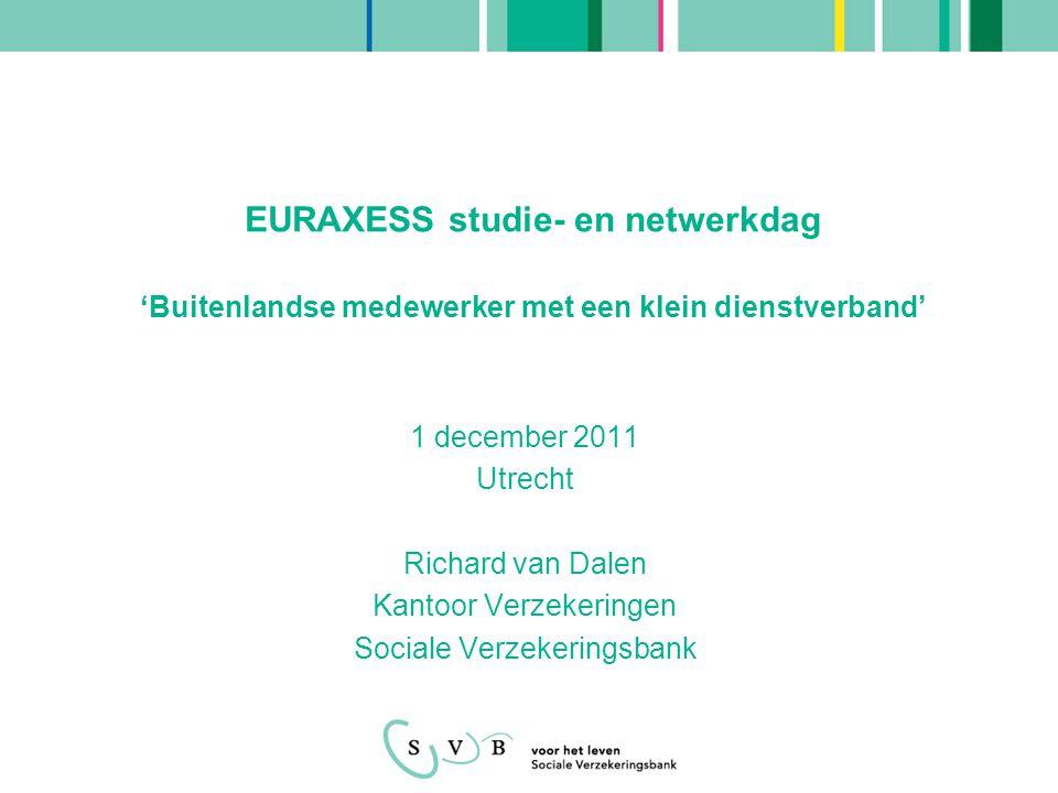 EURAXESS studie- en netwerkdag 'Buitenlandse medewerker met een klein dienstverband'