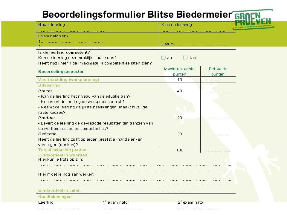 Beoordelingsformulier Blitse Biedermeier