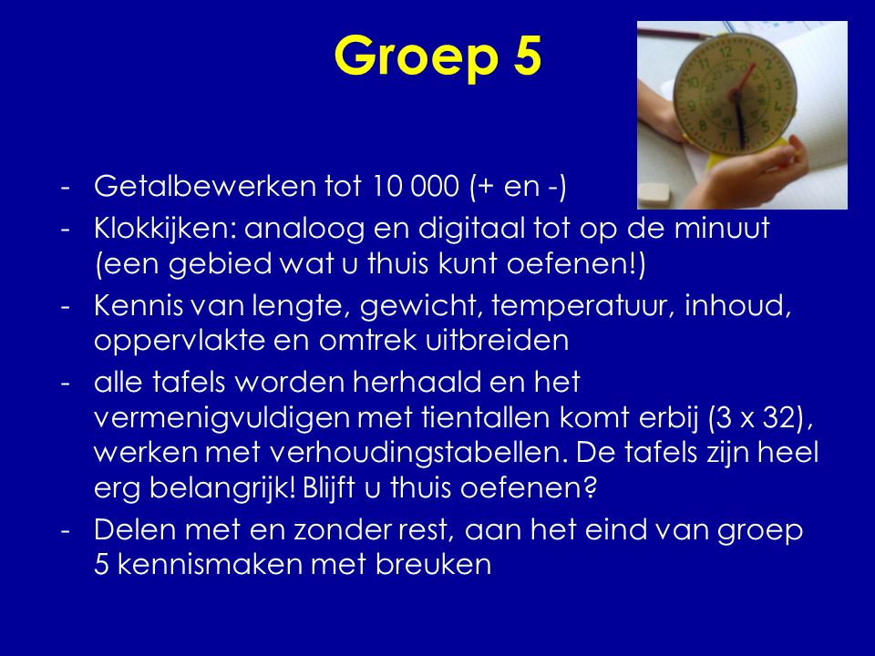 Groep 5 Getalbewerken tot 10 000 (+ en -)