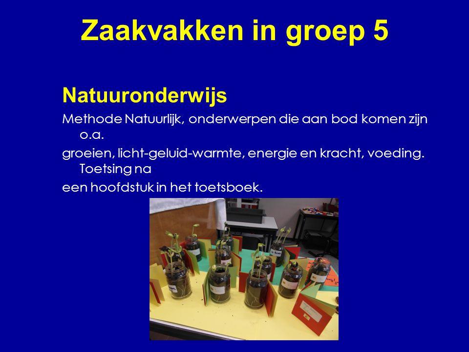 Zaakvakken in groep 5 Natuuronderwijs