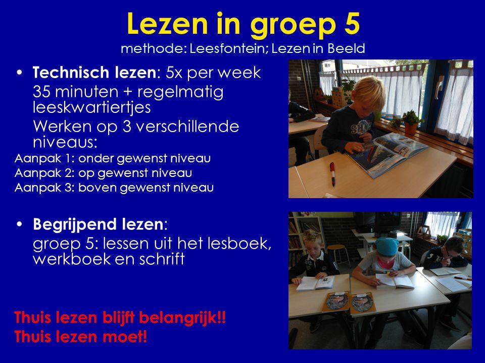 Lezen in groep 5 methode: Leesfontein; Lezen in Beeld