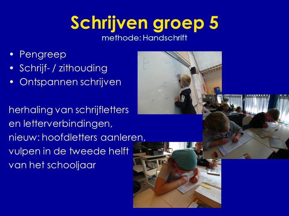 Schrijven groep 5 methode: Handschrift