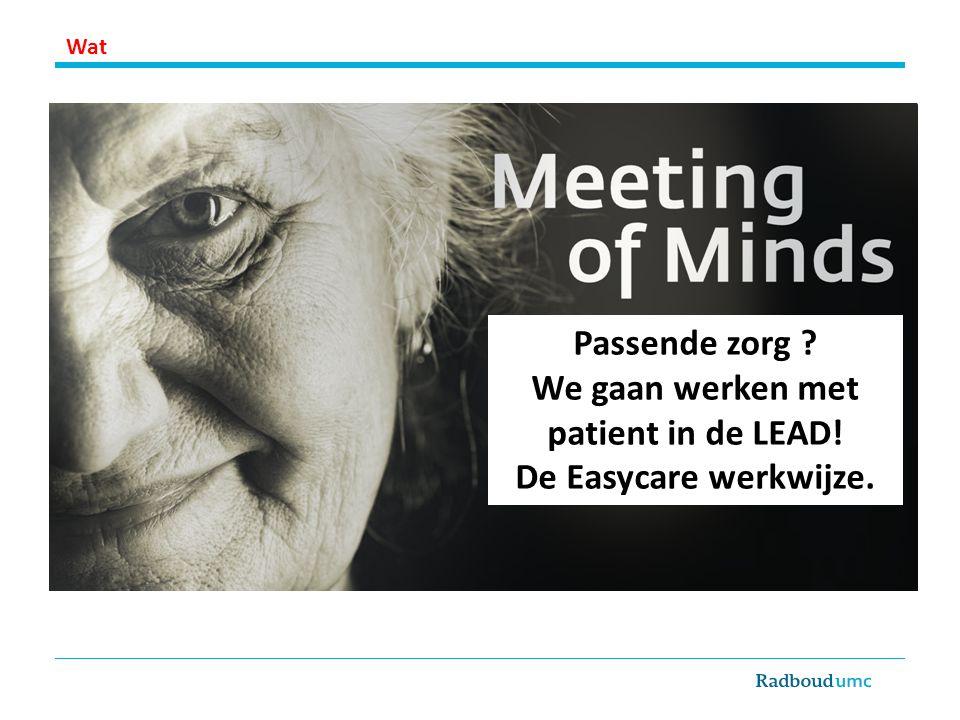 We gaan werken met patient in de LEAD!
