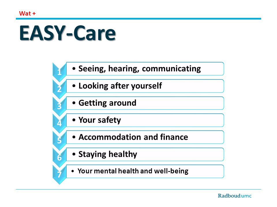 EASY-Care Seeing, hearing, communicating Looking after yourself
