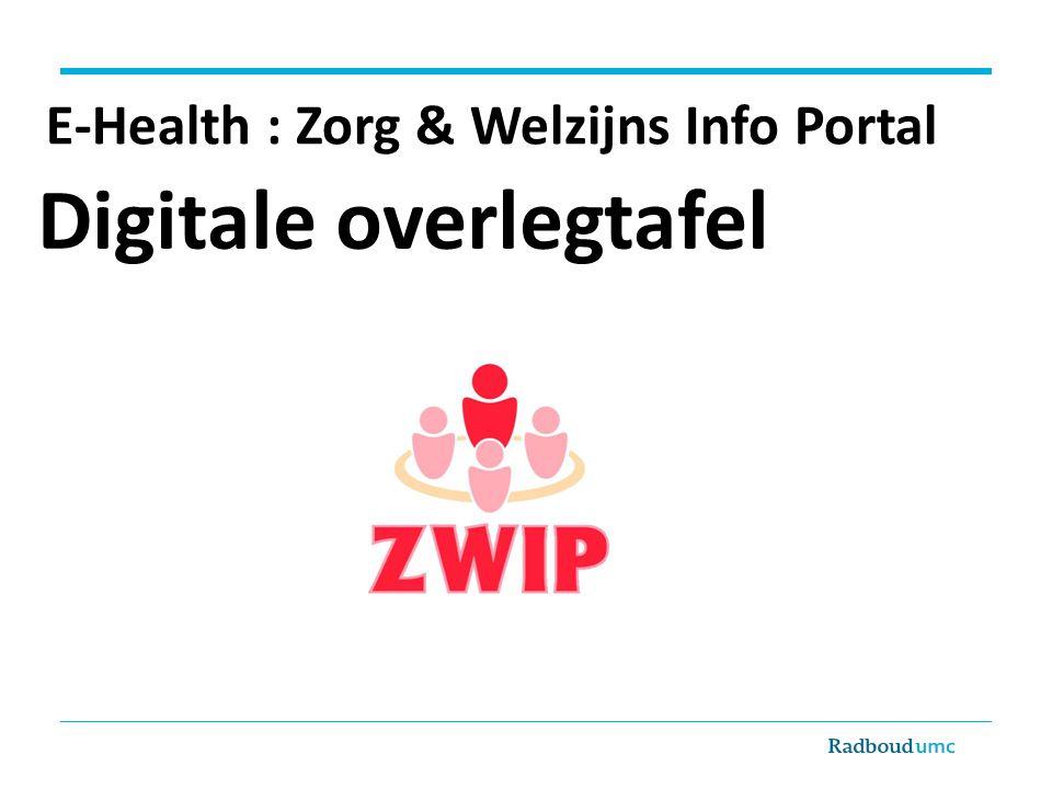 E-Health : Zorg & Welzijns Info Portal