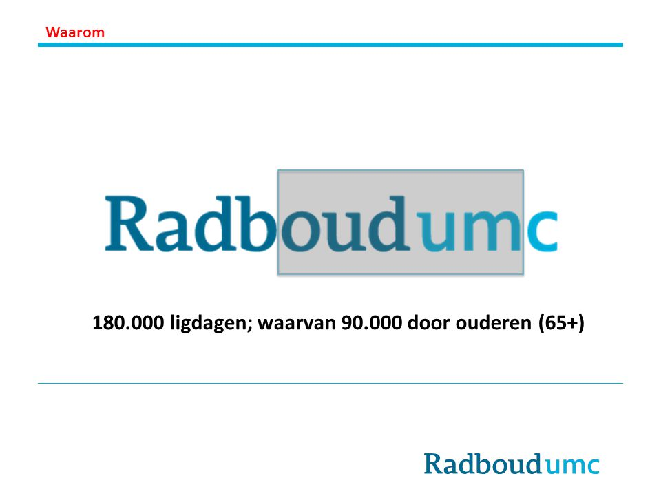 180.000 ligdagen; waarvan 90.000 door ouderen (65+)