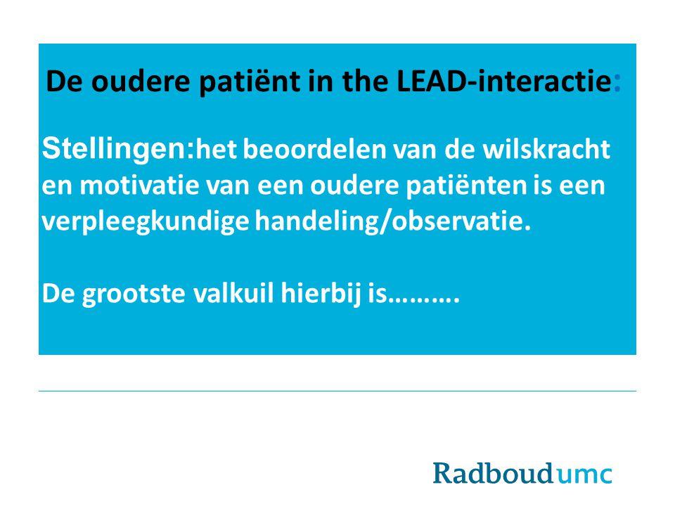 De oudere patiënt in the LEAD-interactie: