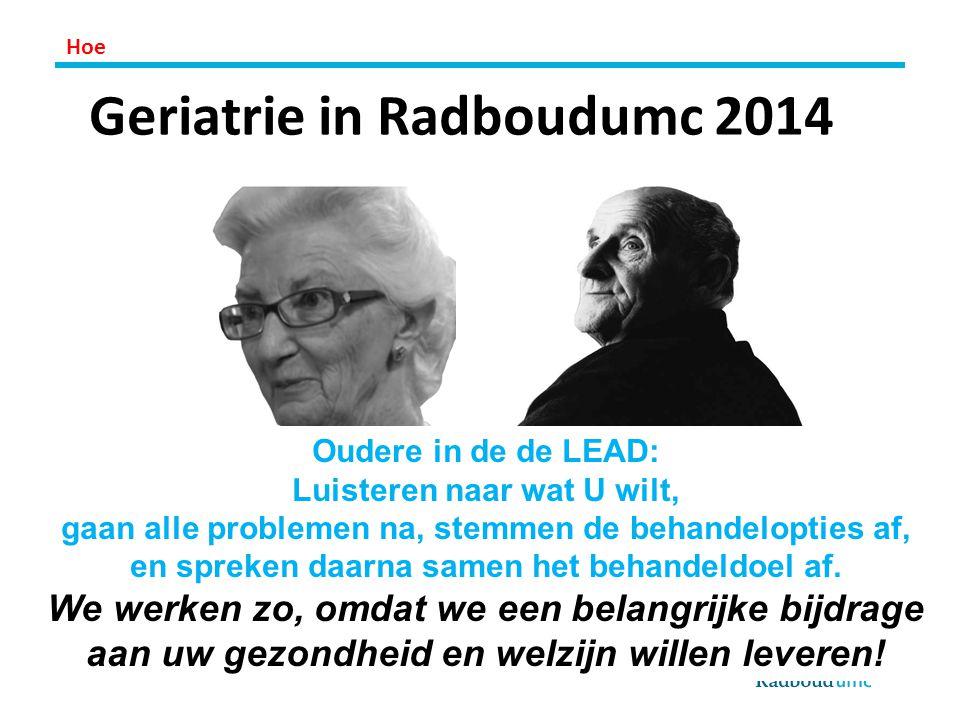 Geriatrie in Radboudumc 2014