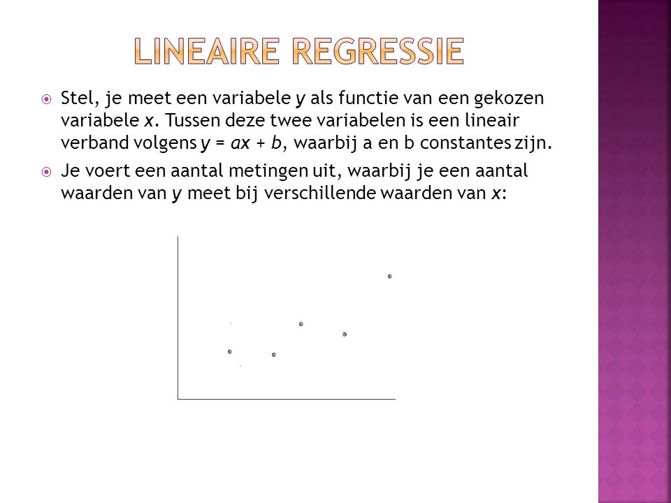 Lineaire regressie