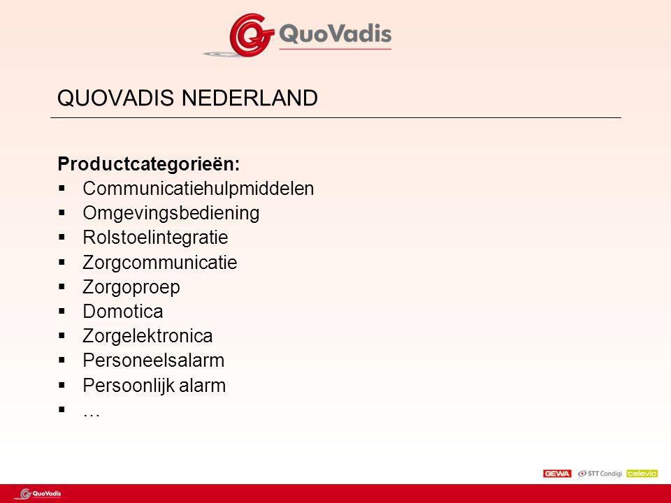 QUOVADIS NEDERLAND Productcategorieën: Communicatiehulpmiddelen