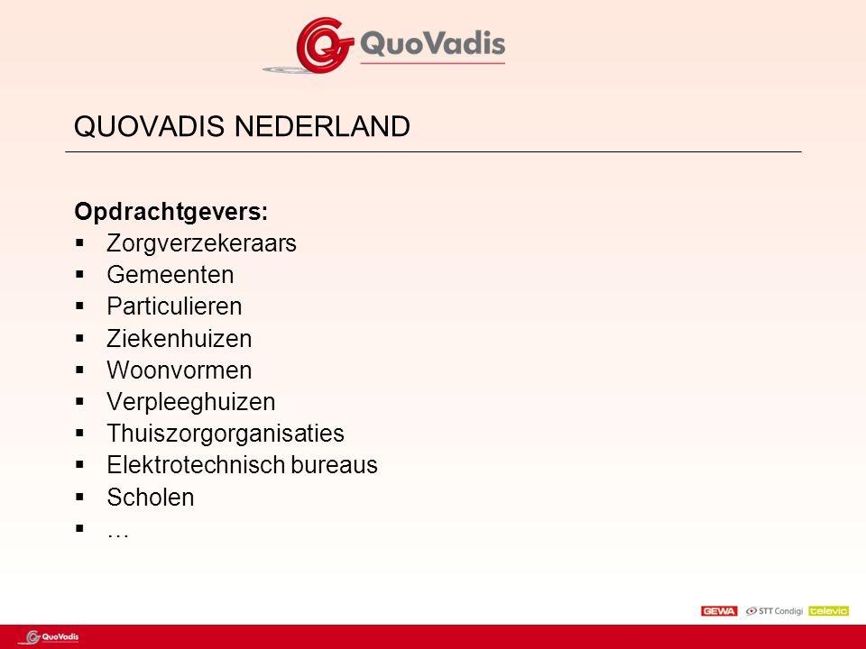 QUOVADIS NEDERLAND Opdrachtgevers: Zorgverzekeraars Gemeenten