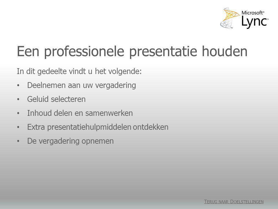 Een professionele presentatie houden