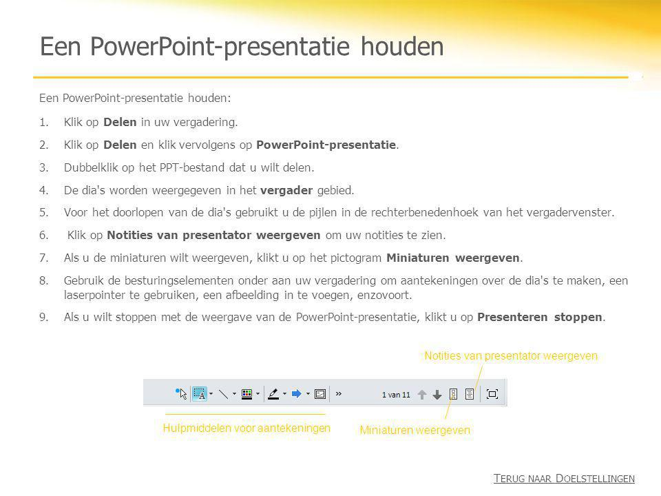 Een PowerPoint-presentatie houden