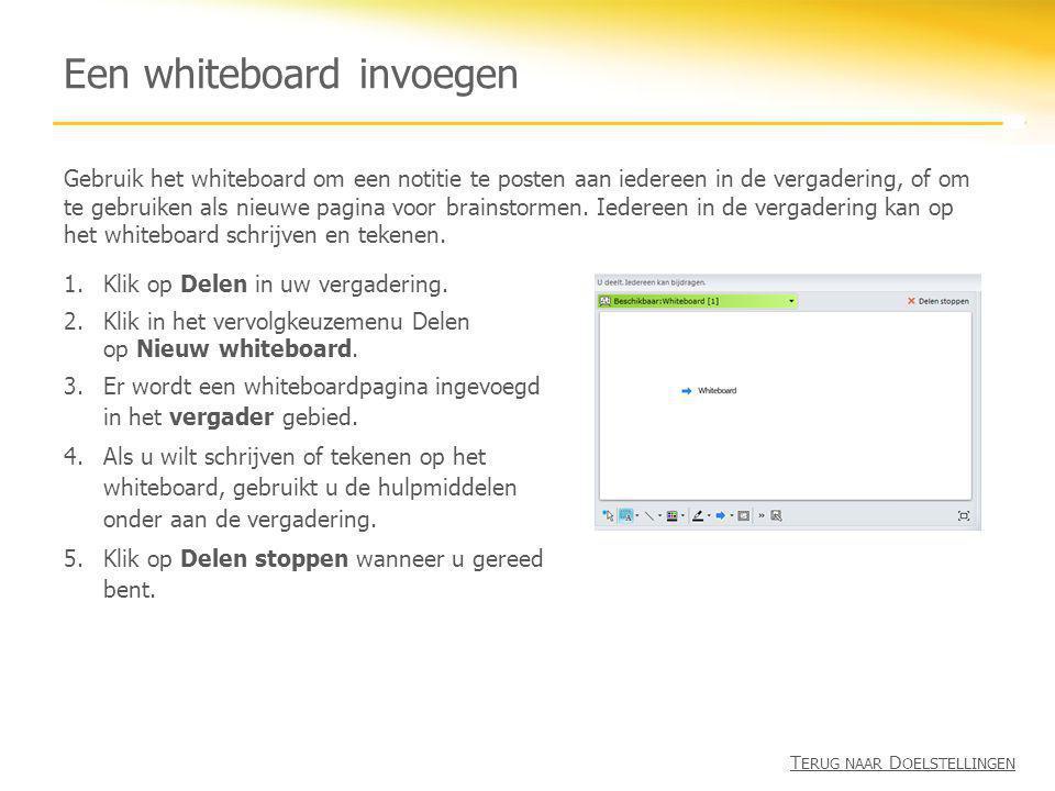 Een whiteboard invoegen