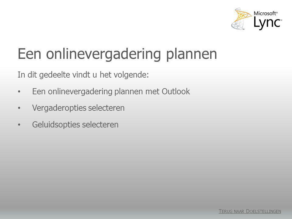 Een onlinevergadering plannen