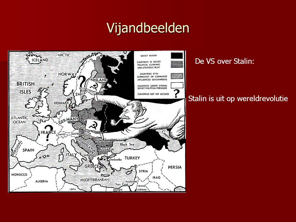 Vijandbeelden De VS over Stalin: Stalin is uit op wereldrevolutie