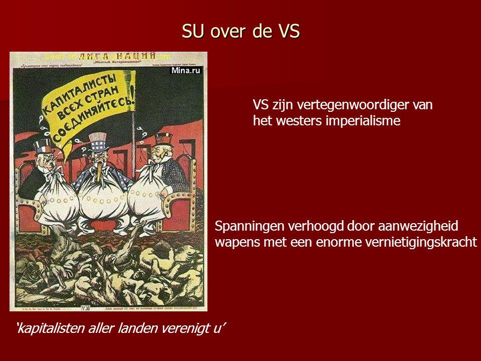 SU over de VS VS zijn vertegenwoordiger van het westers imperialisme