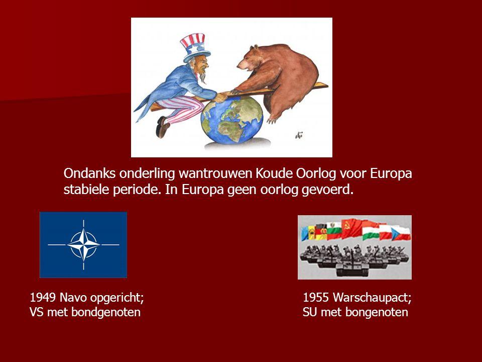 Ondanks onderling wantrouwen Koude Oorlog voor Europa stabiele periode