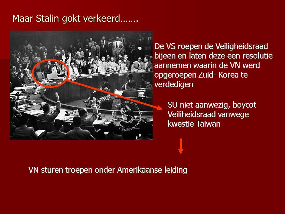 Maar Stalin gokt verkeerd…….