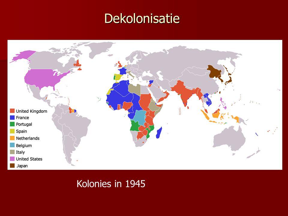 Dekolonisatie Kolonies in 1945