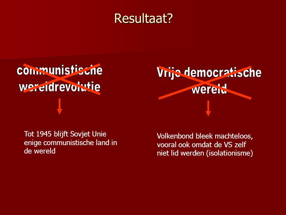 Resultaat communistische Vrije democratische wereldrevolutie wereld
