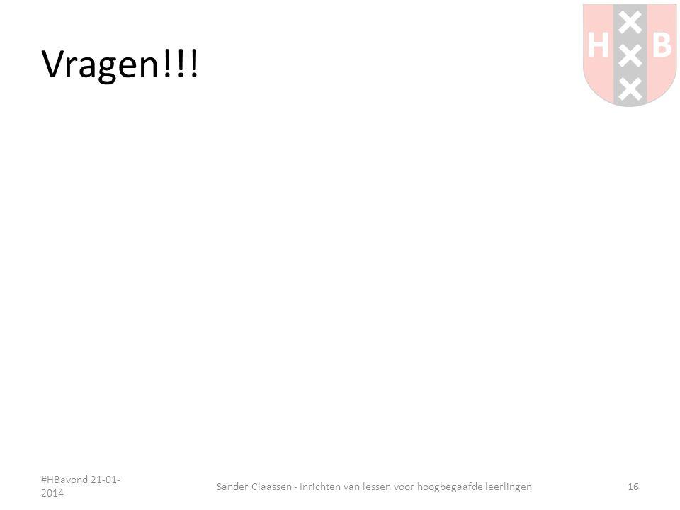 Sander Claassen - Inrichten van lessen voor hoogbegaafde leerlingen