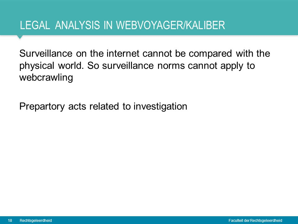 Legal analysis in webvoyager/kaliber