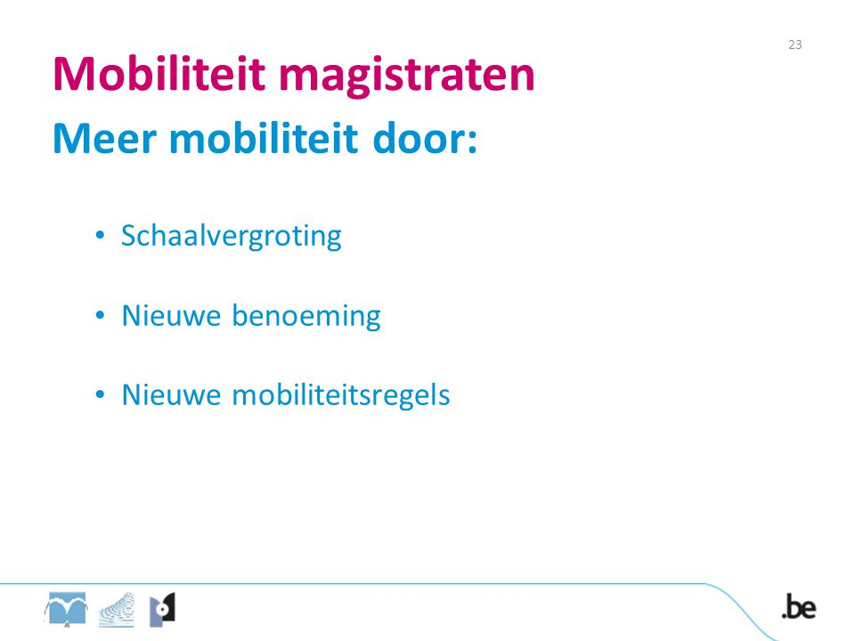 Mobiliteit magistraten