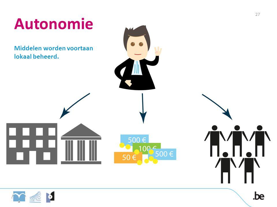 Autonomie 27 Middelen worden voortaan lokaal beheerd.
