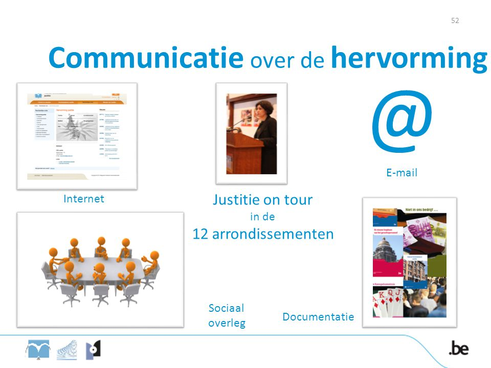 Justitie on tour in de 12 arrondissementen