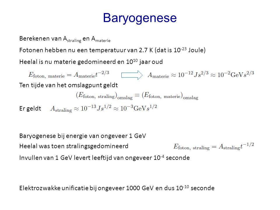 Baryogenese Berekenen van Astraling en Amaterie
