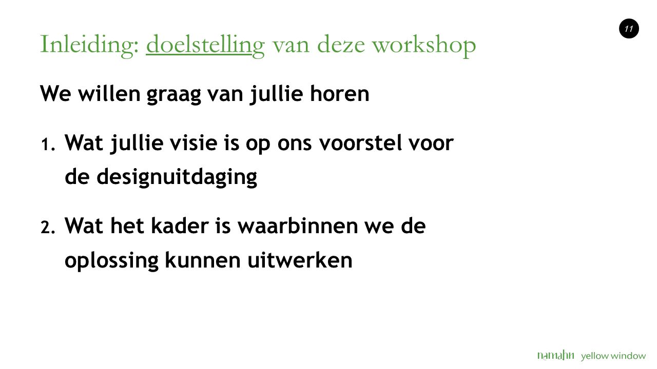 Inleiding: doelstelling van deze workshop