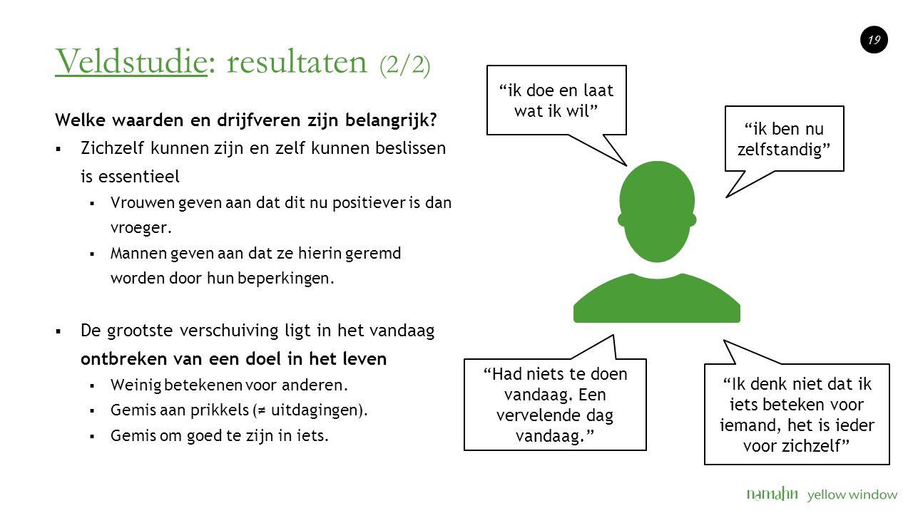 Veldstudie: resultaten (2/2)