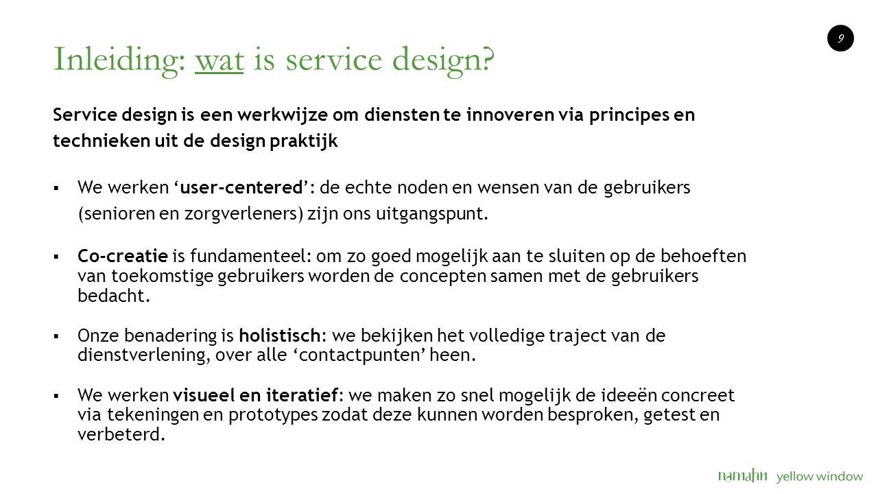 Inleiding: wat is service design