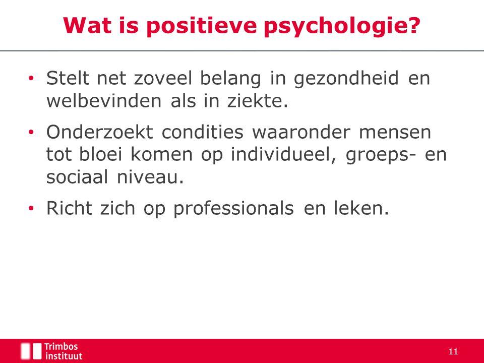 Wat is positieve psychologie