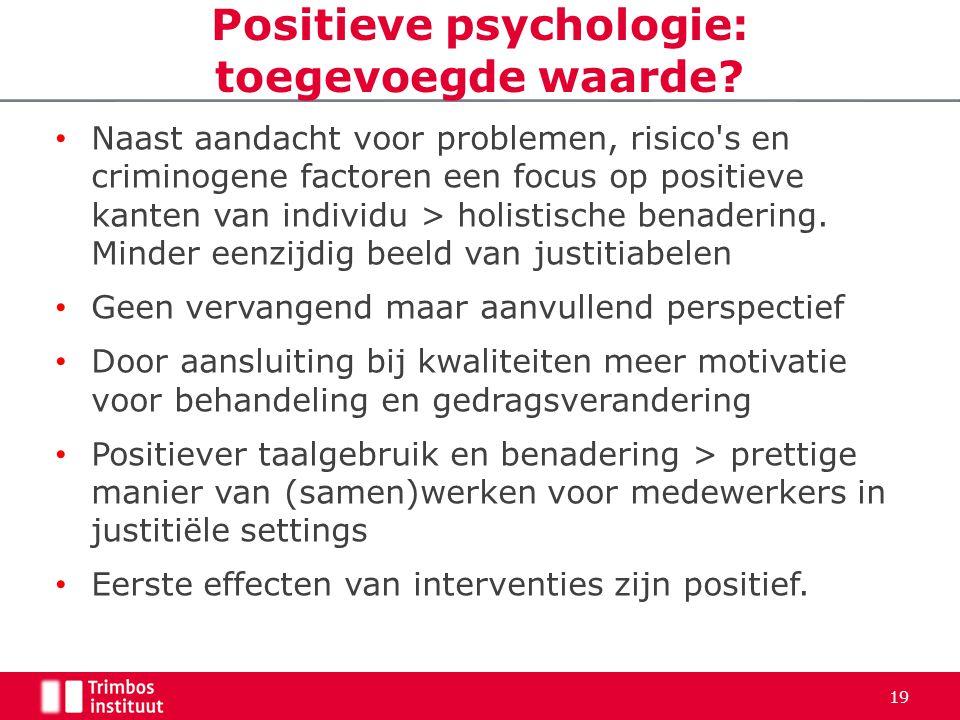 Positieve psychologie: toegevoegde waarde