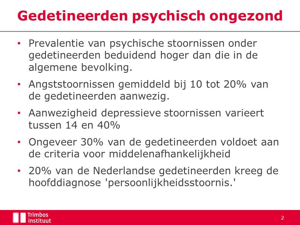 Gedetineerden psychisch ongezond