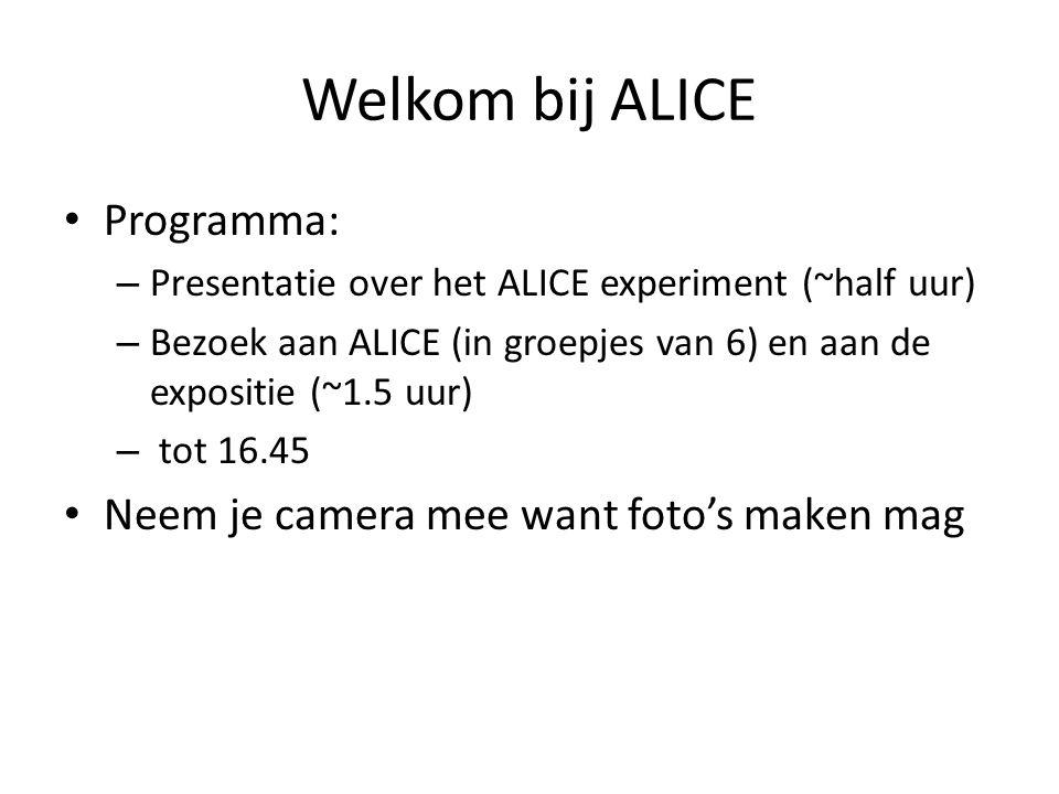 Welkom bij ALICE Programma: Neem je camera mee want foto's maken mag