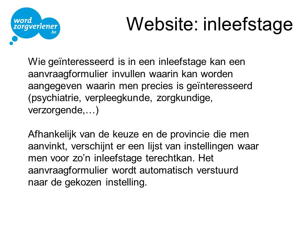 Website: inleefstage